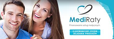MediRaty - płacenie za zabiegi w dogodnych ratach w B-Dental Specjalistyczne Centrum Stomatologii i Medycyny, Gliwice, ul. Chemiczna 3